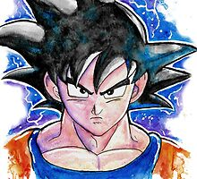 Epic GOKU DBZ - Watercolor - Streetart Tees n more! Jonny2may by Jonny2may