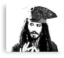 Awesome Johnny Depp - Stencil - Pirates Caribbean - Street art Graffiti Popart Andy warhol Canvas Print