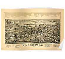 Panoramic Maps West Chazy NY Poster