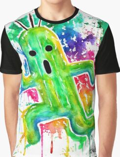 Cute Cactuar - Running Watercolor - Final fantasy - Jonny2may - Awesome!  Graphic T-Shirt