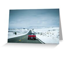 Driving the mother road *Route 66* Greeting Card