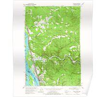 USGS Topo Map Washington State WA Kalama 241723 1953 24000 Poster