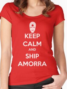 Keep Calm and Ship Amorra! Women's Fitted Scoop T-Shirt