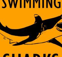 Sharks Yellow Diamond Warning Sign Sticker