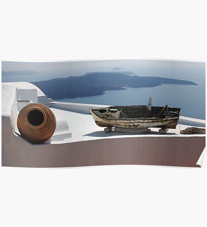 View At Santorini Poster