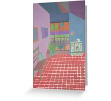 Inside out-Building Interior Greeting Card
