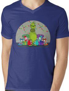 Grinchy Mens V-Neck T-Shirt