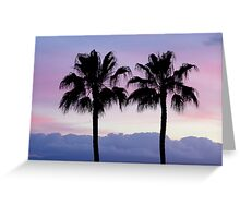 Purple sunset in Los Gigantes Greeting Card