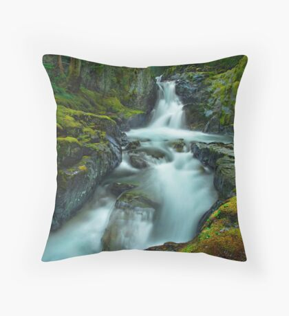 The Falls of Strathcona Throw Pillow