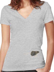 Rat by Anne Winkler Women's Fitted V-Neck T-Shirt