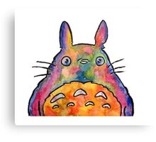 Cute Colorful Totoro! Tshirts + more! Jonny2may Canvas Print