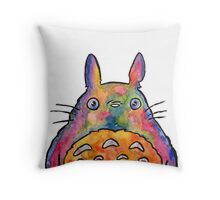 Cute Colorful Totoro! Tshirts + more! Jonny2may Throw Pillow