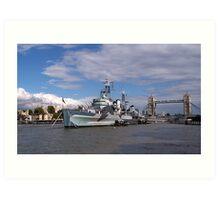 HMS Belfast Art Print
