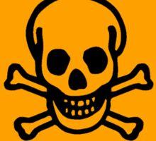 Poison Yellow Diamond Warning Sign Sticker