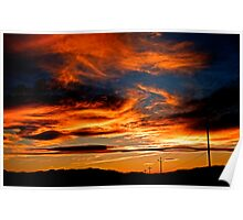 Powerline Sunset Poster