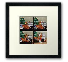 christmas lego Framed Print