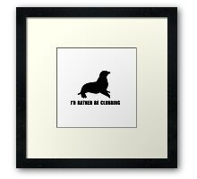 I'd Rather Be Clubbing Seal Shirt Framed Print