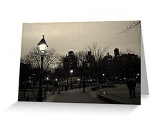 Washington Square Park at Night Greeting Card