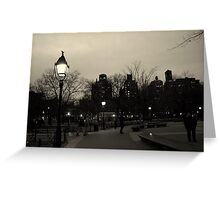 Washington Square Park at Night Greeting Card