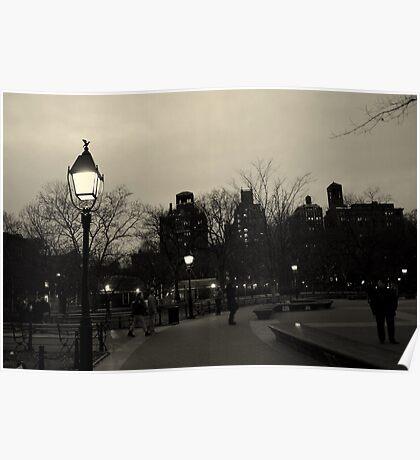 Washington Square Park at Night Poster