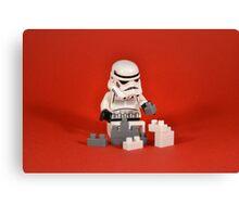 Playing Lego Canvas Print