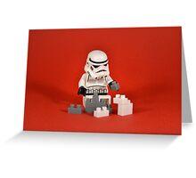 Playing Lego Greeting Card