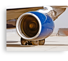 Rolls Royce Trent 700  Jet Engine on an Airbus 330-200 Canvas Print