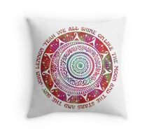 Yeah We All Shine On Throw Pillow