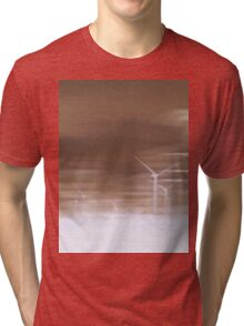 Ghostly wind turbines Tri-blend T-Shirt