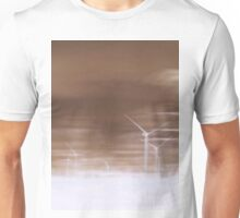 Ghostly wind turbines Unisex T-Shirt