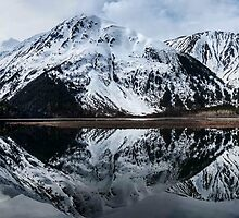 STOCK ~ Mountains in Reflection by akaurora