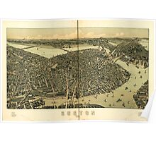 Panoramic Maps Boston 1899 Poster