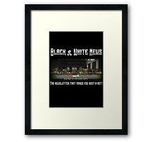 The Black & White Last Supper Framed Print
