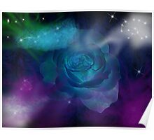Deep Space Rose Poster
