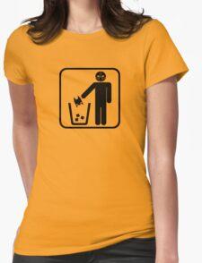 Keep Gotham Clean - Black Womens Fitted T-Shirt