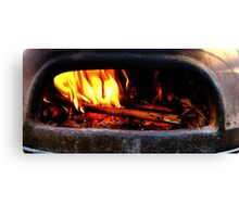 Pre heating the oven Canvas Print