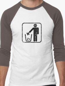 Keep Gotham Clean - Black Distressed Men's Baseball ¾ T-Shirt