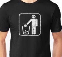 Keep Gotham Clean - White Distressed Unisex T-Shirt