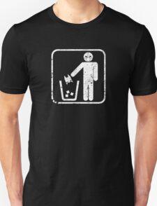 Keep Gotham Clean - White Distressed T-Shirt