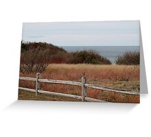 Autumn ocean view Greeting Card