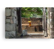 Peace At Angkor Wat  Cambodia Canvas Print