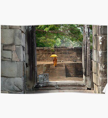 Peace At Angkor Wat  Cambodia Poster