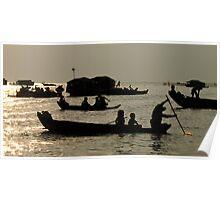 Life On Lake Tonle Sap Cambodia Poster