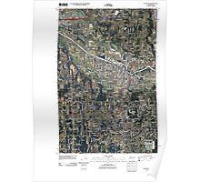 USGS Topo Map Washington State WA Puyallup 20110519 TM Poster