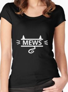 mews - white on black Women's Fitted Scoop T-Shirt