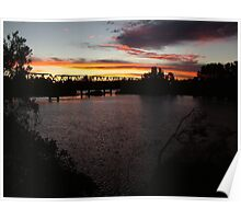 Sunset Over Martin Bridge Poster
