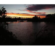 Sunset Over Martin Bridge Photographic Print