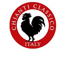 Black Rooster Italy Chianti Classico  Photographic Print