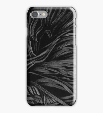 black white Shakti flow iPhone Case/Skin