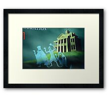 Haunted Mansion Haunted House Hitch Hiking Ghosts Framed Print